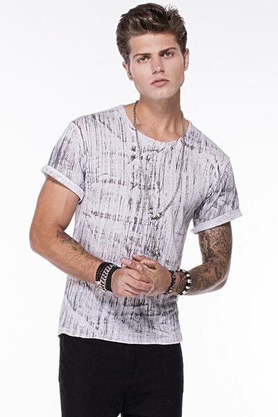 T-Shirt Tingida Manualmente em Linho