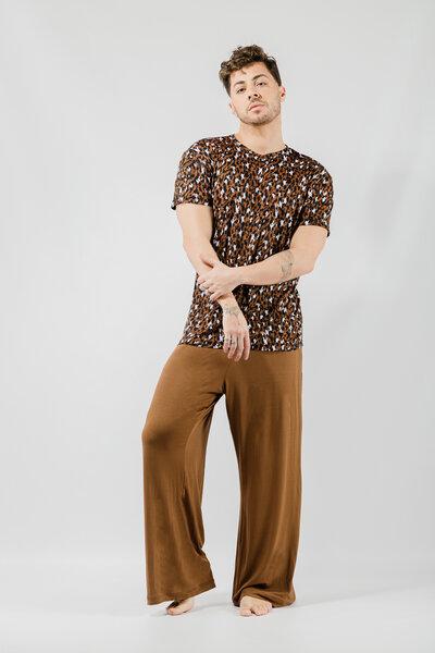 T-Shirt Leopard em Modal