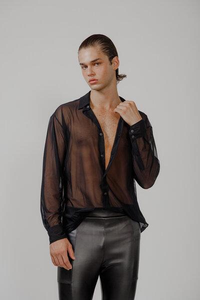 Camisa Básica em Tule