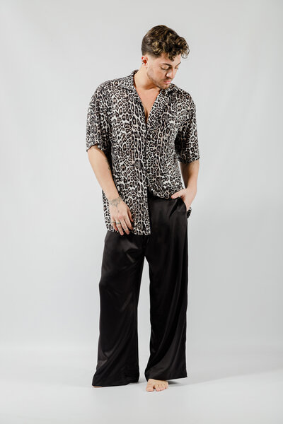 Camisa Leopard Viscose
