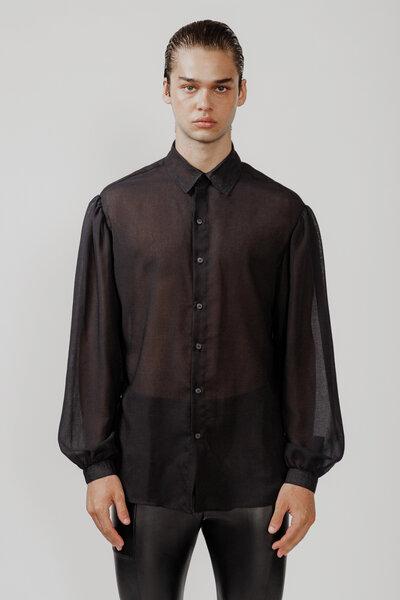 Camisa Manga Bufante Preta