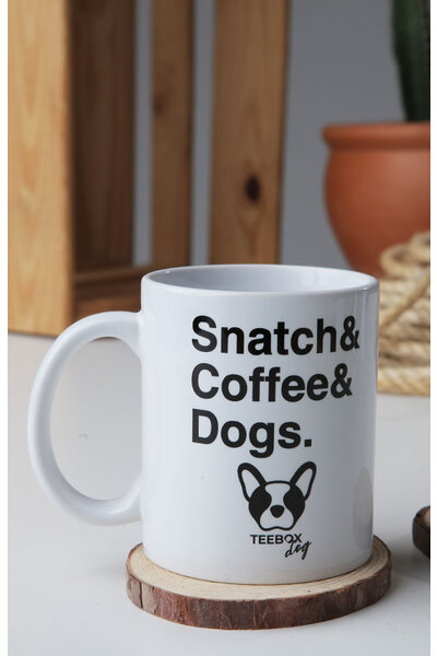 Caneca SNATCH, COFFEE & DOGS teebox