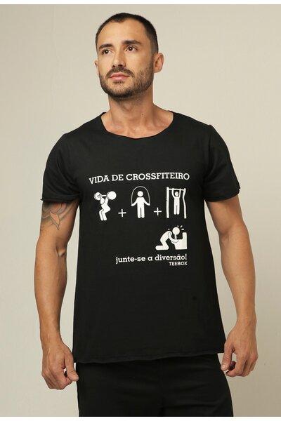 Camiseta masculina Teebox VIDA DE CROSSFITEIRO