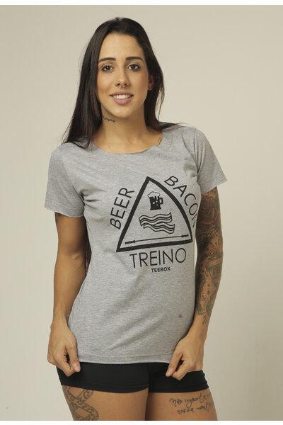 Camiseta Babylook Teebox BEER & BACON feminina