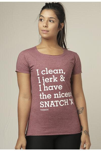 Camiseta Babylook Teebox SNATCH