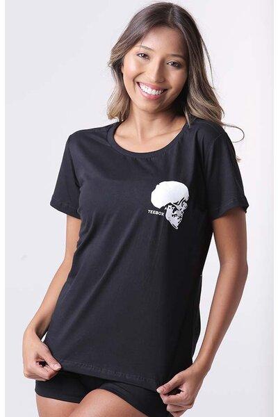 Camiseta babylook teebox SKULL CROSS