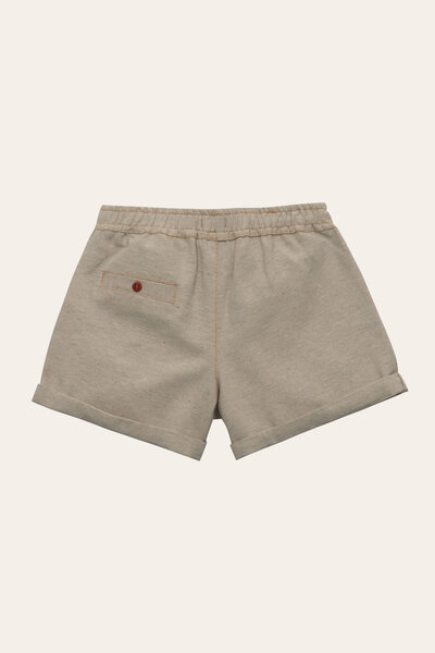 Shorts milu noronha Bege mescla