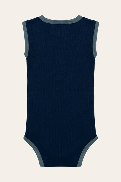 Body Rib Azul marinho