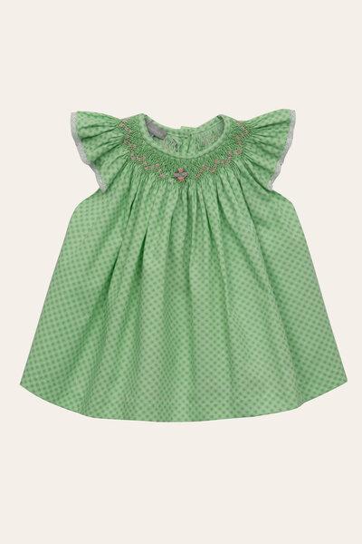 Vestido Isabel Xadrez Miudo Verde