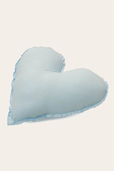 Almofada Coração com Estampa Poá