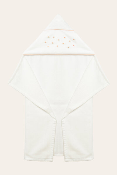 Cj toalha capuz coracao com folha