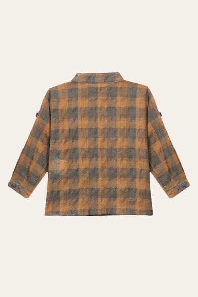 Camisa Gola Padre Xadrez