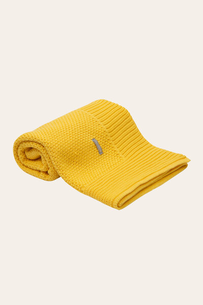 Manta Ponto Renda Colo Amarelo Sol