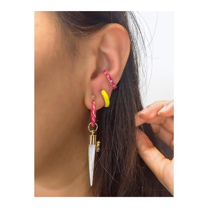 Piercing Fake Ear Hook Esmaltado - Cores