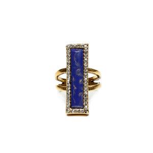 Anel Hieroglifos Lapis Lazuli