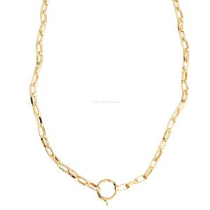 Colar Cartier Oval Delicada Locker - Ouro