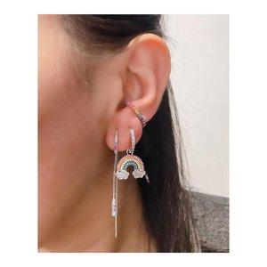 Argolinha Fun Pingente Rainbow - Ródio