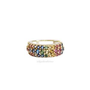 Piercing Fake Prata 925 Shine Rainbow Ouro (Unitário)