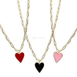Colar Cartier LOVE Coração Esmaltado - G (Cores)