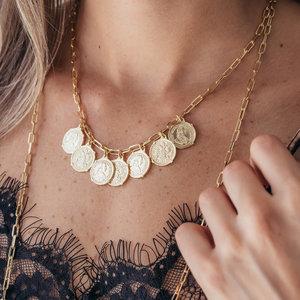 Colar Trend Cartier Moedas Ouro