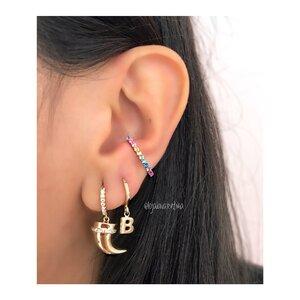 Piercing Ear Hook Rainbow Ouro (Unitário)