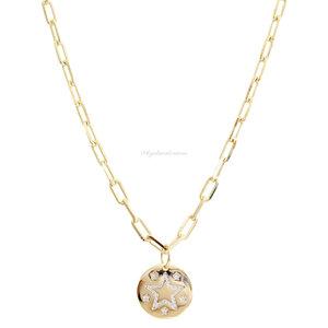 Colar Cartier Medalha Estrela Ouro