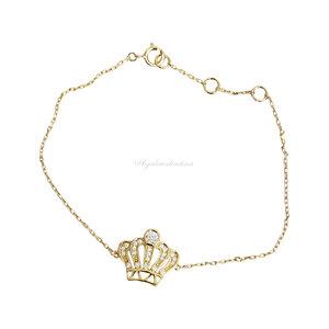 Pulseira Prata 925 Ouro Coroa