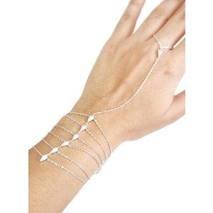 Pulseira de Mão Diamond - Prata