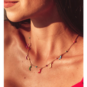 Colar Summer Colors Corais