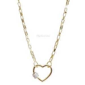 Colar Coração Locker - Ouro