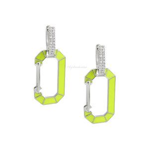 Brinco Trend Locker Chanfrado Neon - Rodio