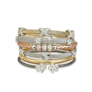 Bracelete Italiano Nós Prata
