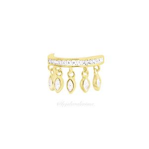 Piercing Fake Prata 925 Gipsy Ouro (Unitário)