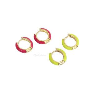 Argolinha Esmaltada Colors Lisa - Cores