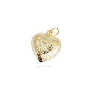 Pingente Coração Trabalhado - Ouro
