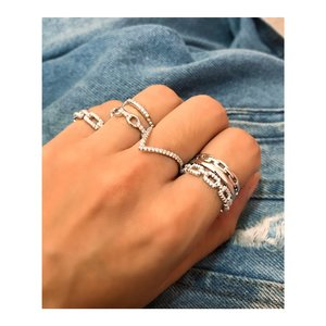 Anéis Kit PRATA 925 Chain
