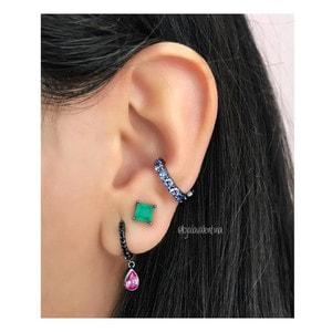 Piercing Fake Clip Negro Tanzanita (Unitário)