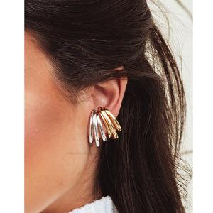 Piercing Ear Hook Fake Triplo Ródio - UNITÁRIO