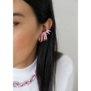 Piercing Ear Hook Fake Chanfrado Baby Pink - UNITÁRIO