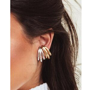 Brinco Ear Hook Fake Triplo Ouro - UNITÁRIO