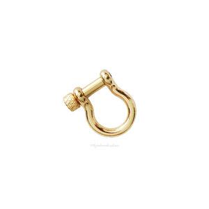 Pingente Mosquetão Locker Ferradura Dourado