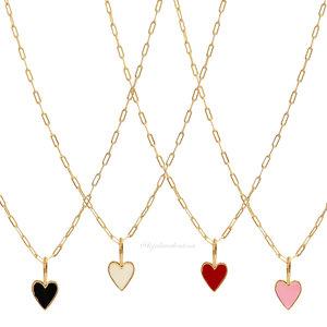 Colar Cartier LOVE Coração Esmaltado - Mini (Cores)