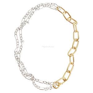 Colar Double Chain 3 em 1