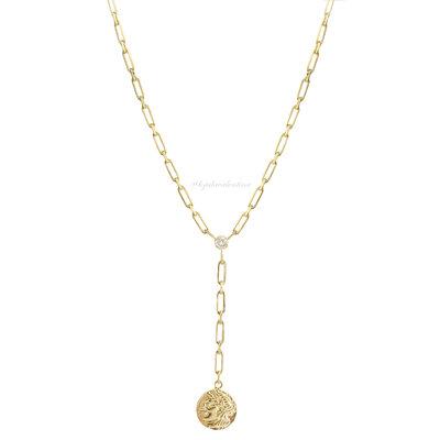 Colar Cartier Prata 925 Ouro Longo Moeda