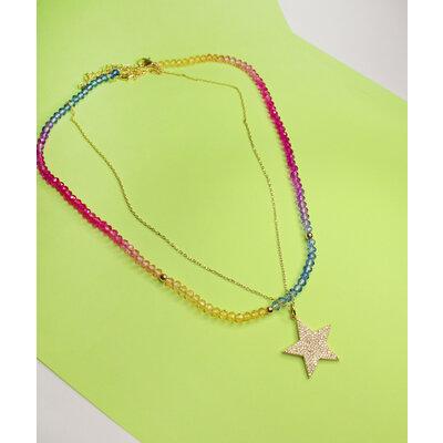 Colar Cristais Rainbow