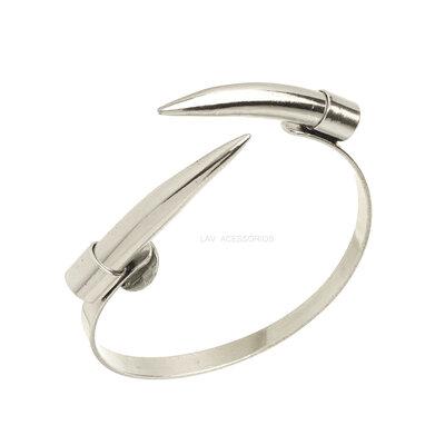 Bracelete NÁDIA GIMENES Dente Metal - Prata