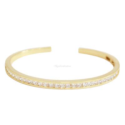 Bracelete Shine Ouro - Branco
