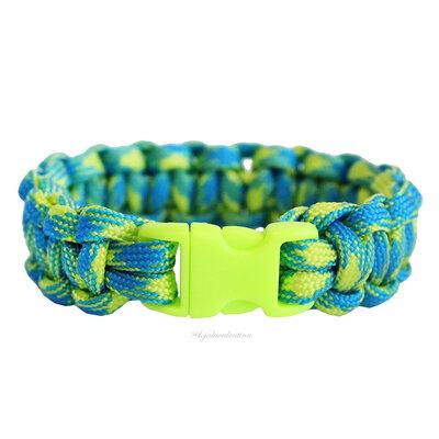 Pulseira Macrame Summer Colors - Azul e Verde