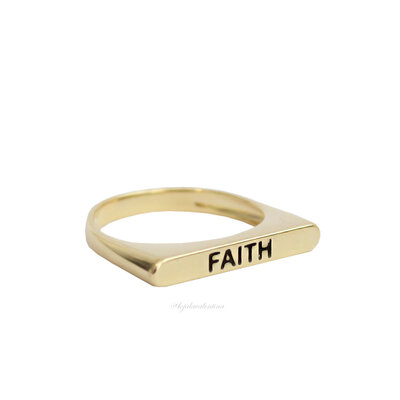 Anel Flat FAITH Ouro