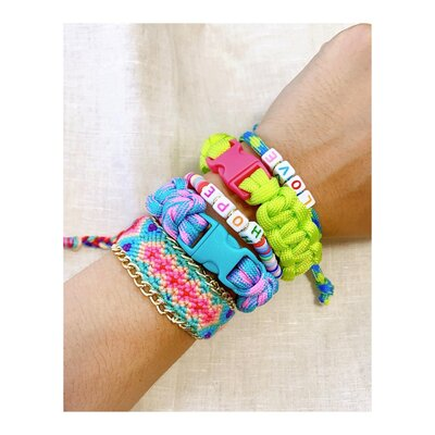 Pulseira Friendship Corrente - Turquesa